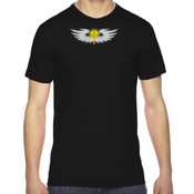 Cross/Wings - American Apparel Unisex Fine Jersey Short-Sleeve T-Shirt