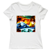 Surfs Up/W - Ladies Tee - On Special!
