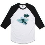 Blue Surf - AS Colour - Raglan Tee Unisex