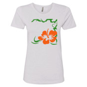 Floral - Next Level - Ladies Boyfriend Tee